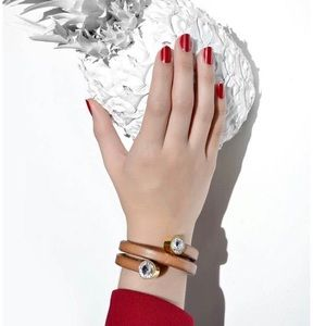 Jewelry - Spiral caramel bracelet Swarovski elements